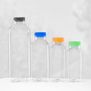 Picture for category Juice bottles PET square