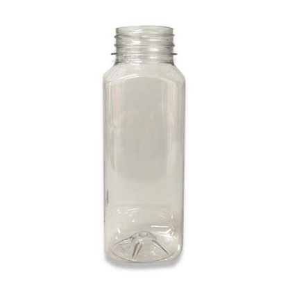 Vierkante Juiceflesjes 500 ml glashelder PET h38mm
