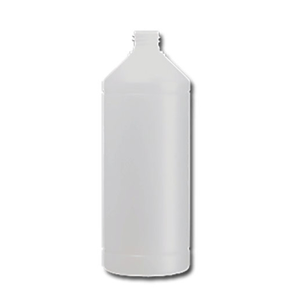 hdpe fles 1 liter  industrie rond wit 28/410.